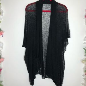 Lost River CO Black netting cardigan, beach cover